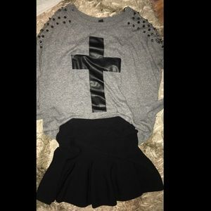Losing my religion! Sweater and skirt